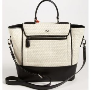 Diane Von Furstenberg Small Raffia Tote Bag Purse